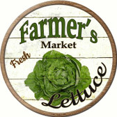 Farmers Lettuce Apples Novelty Metal Circular Sign