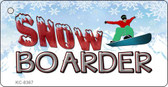 Snow Boarder Novelty Metal Key Chain