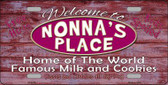 Nonnas Place Novelty Metal License Plate