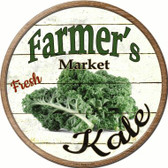 Farmers Market Kale Novelty Metal Circular Sign