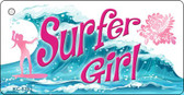 Surfer Girl Novelty Metal Key Chain