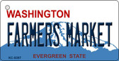 Farmers Market Washington Novelty Metal Key Chain