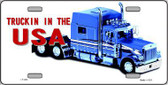 Trucking In The USA Metal Novelty License Plate LP-202