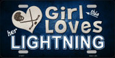 This Girl Loves Her Lightning Novelty Metal License Plate