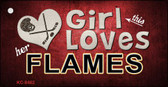 This Girl Loves Her Flames Novelty Metal Key Chain