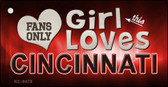 This Girl Loves Cincinnati Novelty Metal Key Chain
