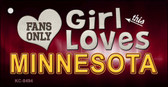 This Girl Loves Minnesota Novelty Metal Key Chain