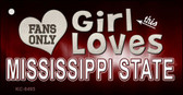 This Girl Loves Mississippi State Novelty Metal Key Chain