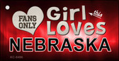 This Girl Loves Nebraska Novelty Metal Key Chain