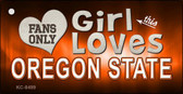 This Girl Loves Oregon State Novelty Metal Key Chain