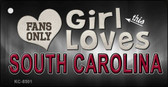 This Girl Loves South Carolina Novelty Metal Key Chain