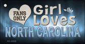 This Girl Loves North Carolina Novelty Metal Key Chain