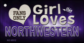 This Girl Loves Northwestern Novelty Metal Key Chain