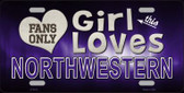 This Girl Loves Northwestern Novelty Metal License Plate