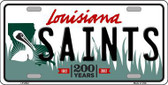 Saints Louisiana State Background Novelty Metal License Plate