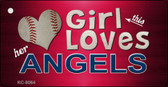 This Girl Loves Her Angels Novelty Metal Key Chain
