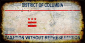 District Of Columbia Rusty State Background Novelty Metal License Plate