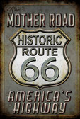 The Mother Road 66 Metal Novelty Large Parking Sign LGP-1394
