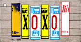 XOXO Wood License Plate Art Novelty Key Chain