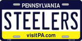 Steelers Pennsylvania State Background Novelty Metal License Plate