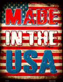 Made In The USA Metal Novelty Parking Sign