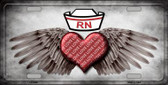 Love RN Novelty Metal License Plate