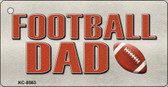 Football Dad Novelty Metal Key Chain