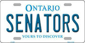 Senators Ontario Canada Province Background Metal Novelty License Plate LP-2069