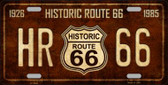Historic Route 66 Vintage Novelty Metal License Plate