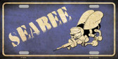 Seabee Novelty Metal License Plate