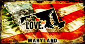 Maryland Love Novelty Metal Key Chain