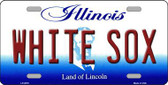 Whitesox Illinois Novelty State Background Metal License Plate LP-2078