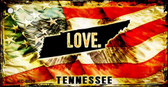 Tennessee Love Novelty Metal Key Chain