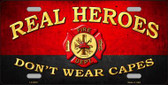 Real Heroes Red Novelty Metal License Plate