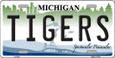 Tigers Michigan State Background Metal Novelty License Plate LP-2079