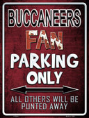 Buccaneers Metal Novelty Parking Sign