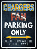 Chargers Metal Novelty Parking Sign