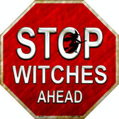 Stop Witches Ahead Wholesale Metal Novelty Stop Sign