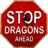 Stop Dragons Ahead Wholesale Metal Novelty Stop Sign
