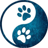 Yin And Yang With Paws Novelty Metal Circular Sign
