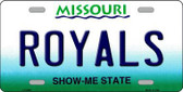 Royals Missouri State Background Novelty Metal License Plate