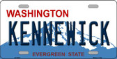 Kennewick Washington Background Novelty Metal License Plate