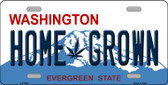 Home Grown Washington Background Novelty Metal License Plate