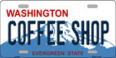 Coffee Shop Washington Background Novelty Metal License Plate