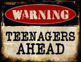Teenagers Ahead Metal Novelty Parking Sign
