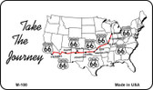 Route 66 Take The Journey Novelty Metal Magnet