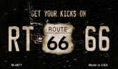 Route 66 Get Your Kicks Novelty Metal Magnet