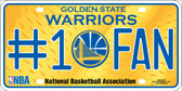 Golden State Warriors Fan Novelty Metal License Plate