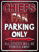 Chiefs Metal Novelty Parking Sign