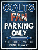Colts Metal Novelty Parking Sign